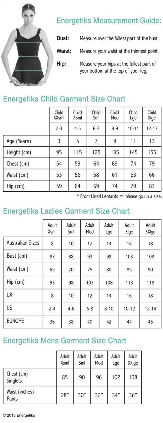 energetiks-size-chart